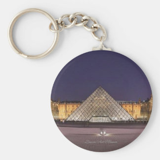 Louvre Art Museum, Basic Button Keychain