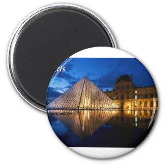 louvre-in-the-night-[kan.k].JPG 6 Cm Round Magnet