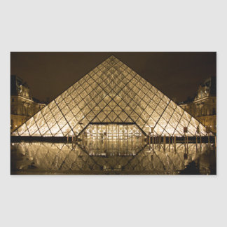 Louvre, Paris/France Rectangular Sticker