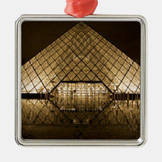 Louvre, Paris/France Silver-Colored Square Decoration