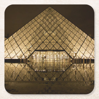 Louvre, Paris/France Square Paper Coaster