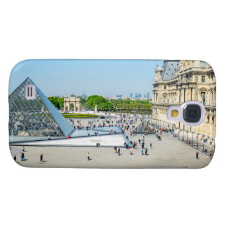 Louvre Pyramid and Palace in Paris Galaxy S4 Case