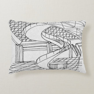 Louvre Underneath the Pyramid | Paris, France Decorative Cushion