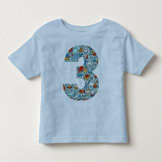 Lovable Little Monsters Number Three Tee