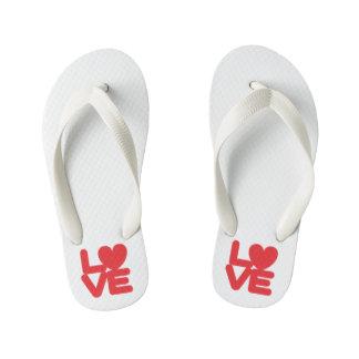 LOVE ♥ 01 ♥ Custom Flip Flops, Kids Thongs