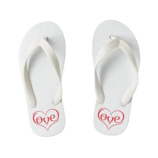 LOVE ♥ 02 ♥ Custom Flip Flops, Kids Thongs