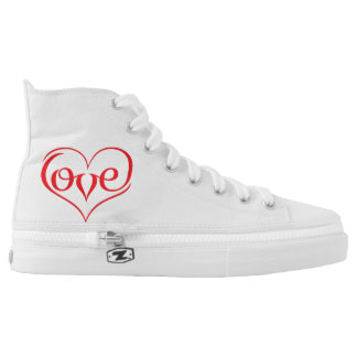 LOVE ♥ 02 ♥ Zipz High Top Shoes Printed Shoes