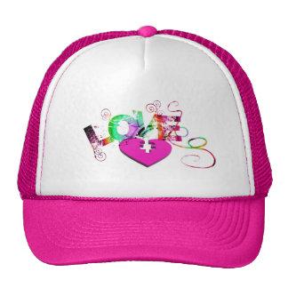 love-129534 GRUNGE TYPOGRAPHY RANDOM love romance Cap