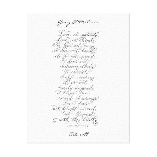 Love 1 Corinthians 13 bible verses Canvas Print