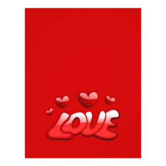Love_2_Vector_Clipart bubbly hearts red shiny text 21.5 Cm X 28 Cm Flyer