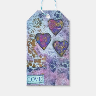 Love 3 Hearts Gift Tags