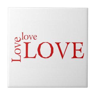 Love 3X Small Square Tile