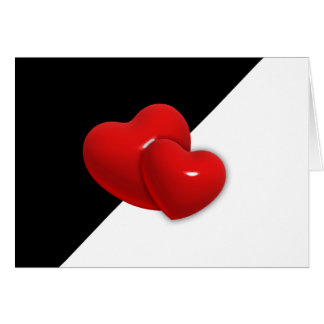 love-489522 Black white triangle red hearts backgr Card