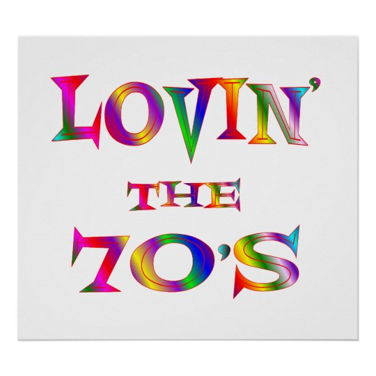 Love 70s Poster