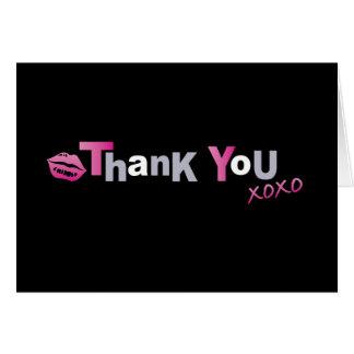 LOVE 7 KISSES BaT Mitzvah Thank-You Card