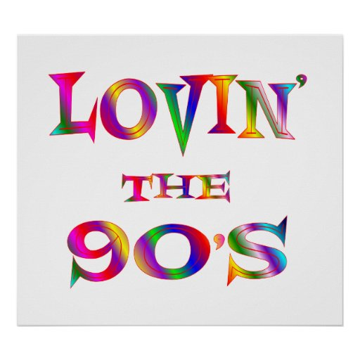 Love 90s poster