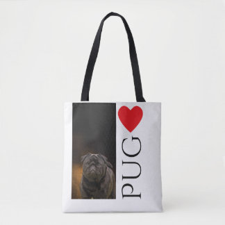 Love a Black Pug Tote