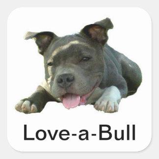 Love-A-Bull Square Square Sticker
