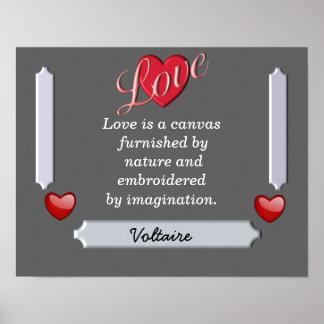 Love a canvas - Voltaire quote - art print