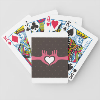Love a hand bicycle playing cards