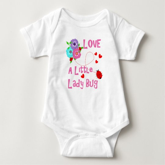 Love A Little Lady Bug Cute Kids Baby Bodysuit