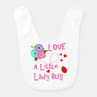 Love A Little Lady Bug Cute Kids Bib