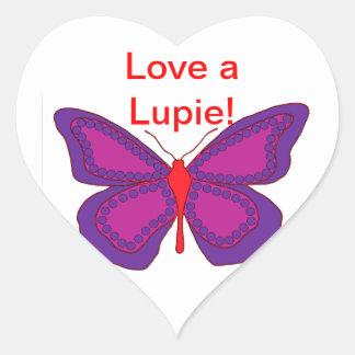 Love A Lupie Heart Sticker