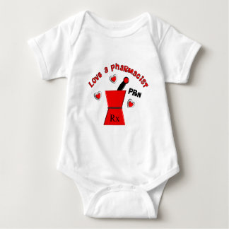 """Love A Pharmacist PRN"" Unique Gifts Baby Bodysuit"
