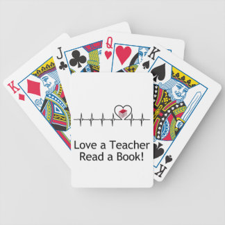 Love a Teacher Bicycle Playing Cards