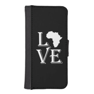 Love Africa Continent Map iPhone SE/5/5s Wallet Case