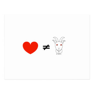 Love Ain't No Billy-Goat Postcard