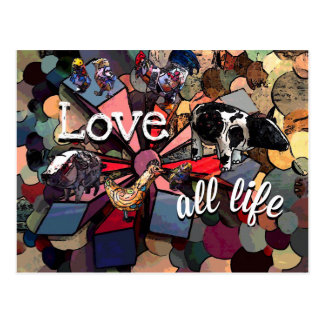 Love all Life Postcard