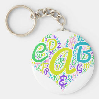 love alphabet key ring