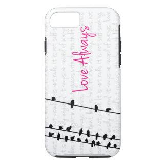 Love Always - Birds on a Line iPhone 7 Case