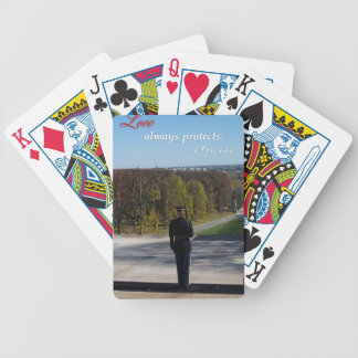 love always protects bicycle playing cards