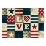 Love America Patriotic Greeting Card