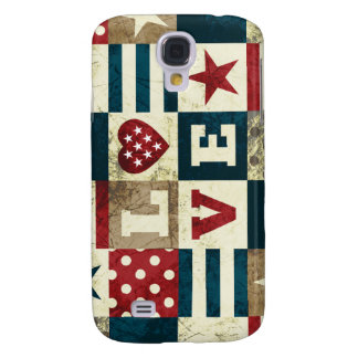 Love America Patriotic Samsung Galaxy S4 Cover