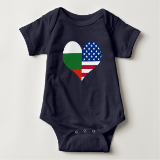 Love American/USA Bulgarian Flag Baby Bodysuit