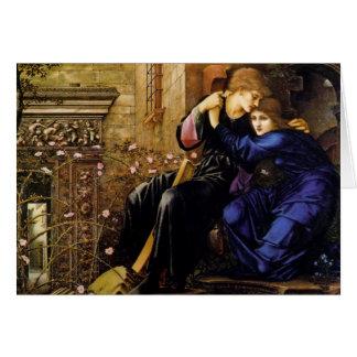 Love among the ruins Pre-Raphaelite Valentine Card