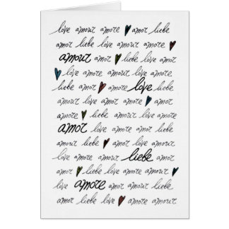 """""""Love Amour Amore Liebe Amor"""" Card"""