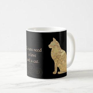 Love and a Brocade Cat Mug