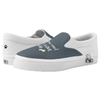 Love and a Dog Quote Printed Shoes