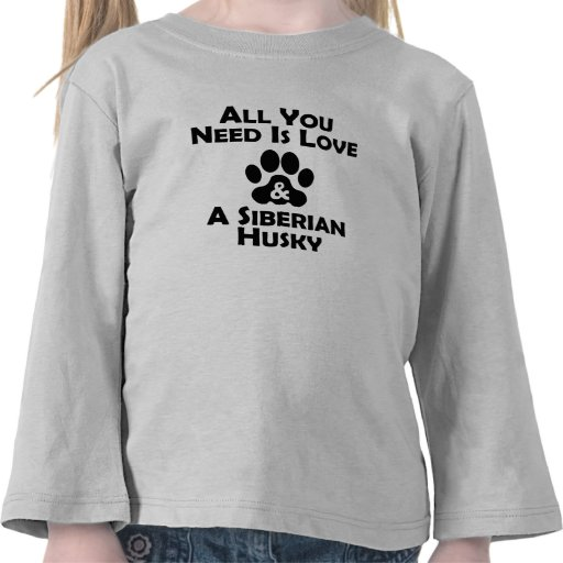 Love And A Siberian Husky Tshirt