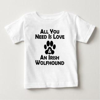 Love And An Irish Wolfhound Baby T-Shirt