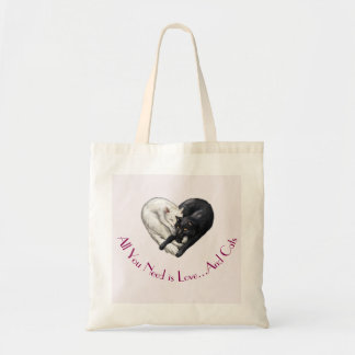 """Love and Cats"" Tote Bag"