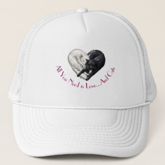 """""""Love and Cats"""" Trucker Hat"""