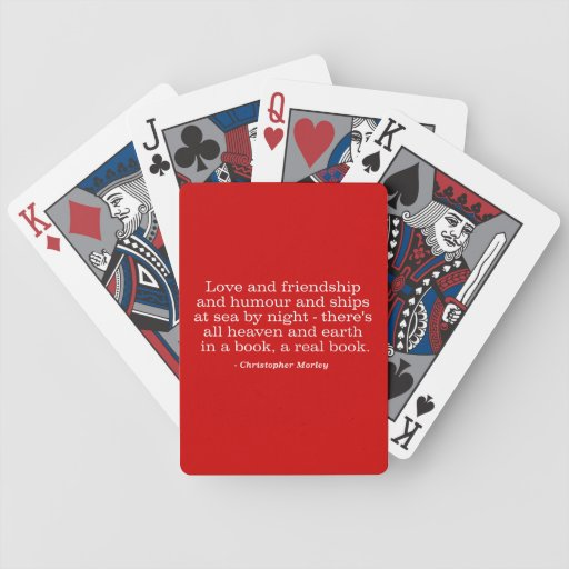 Love and Friendship and Humour and Ships at Sea Playing Cards
