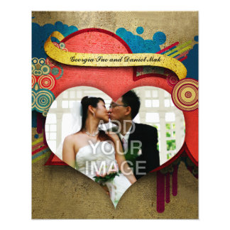 Love and Heart Frame Photo Enlargement Photo Print