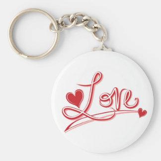 Love and Hearts Budget keychain
