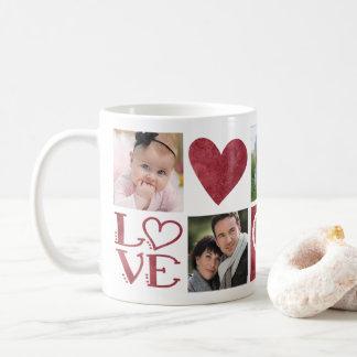 LOVE and Hearts Five Photo Collage Coffee Mug